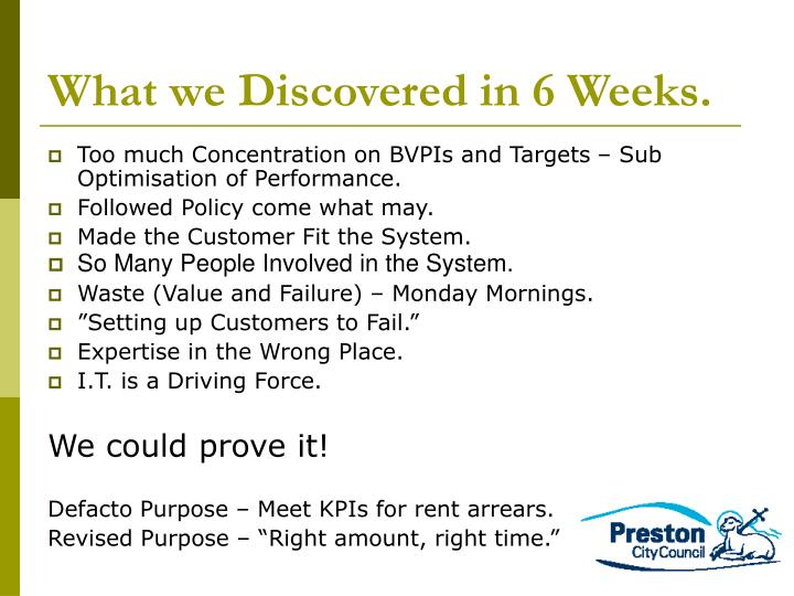 What we Discovered in 6 Weeks.