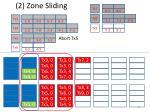 2 zone sliding