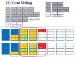 3 zone sliding
