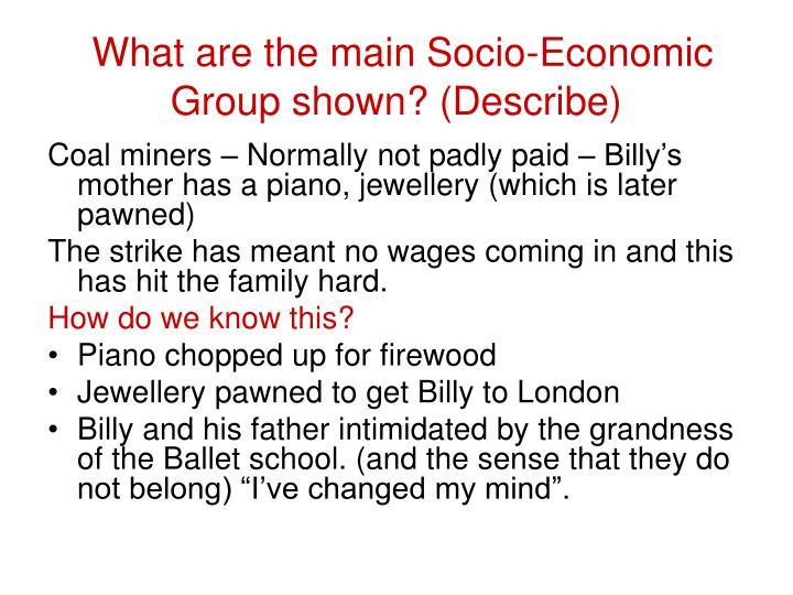 What are the main Socio-Economic Group shown? (Describe)