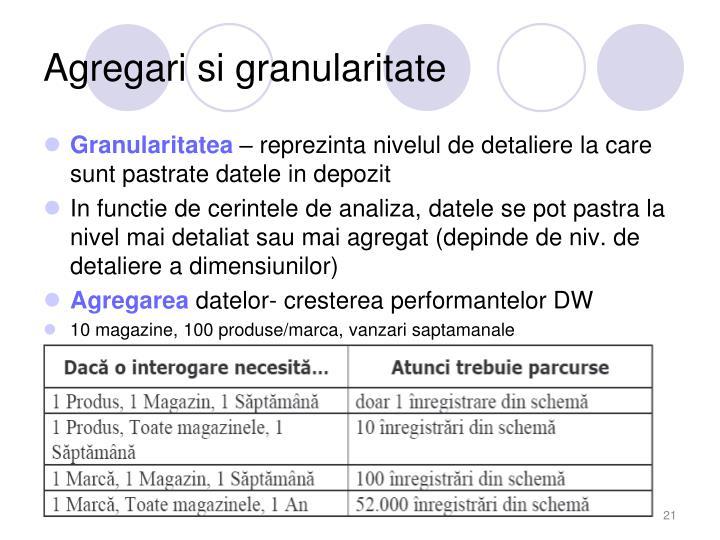 Agregari si granularitate