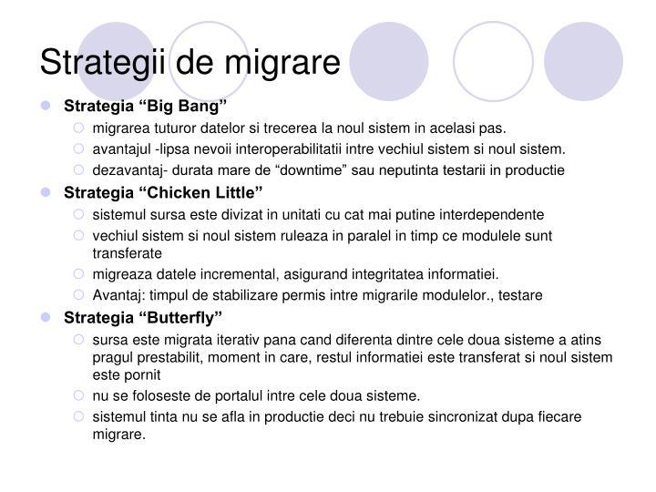 Strategii de migrare