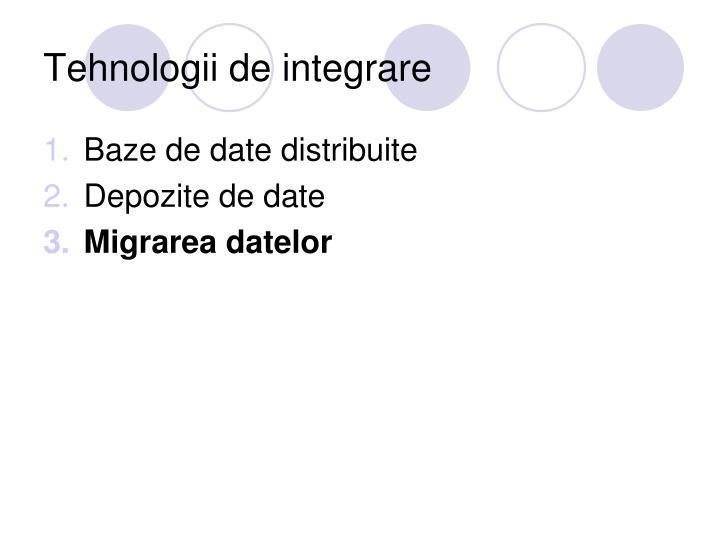 Tehnologii de integrare