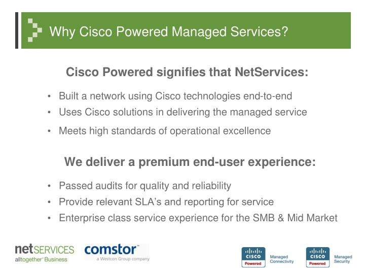 Why cisco powered managed services
