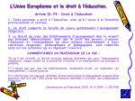 l union europ enne et le droit l ducation