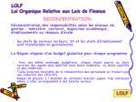 lolf loi organique relative aux lois de finance