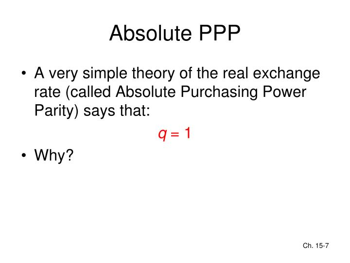 Absolute PPP