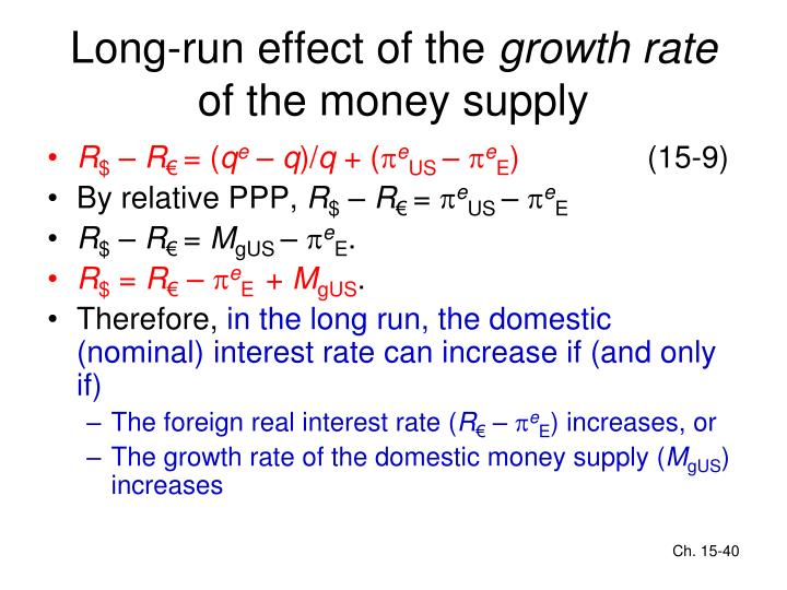 Long-run effect of the