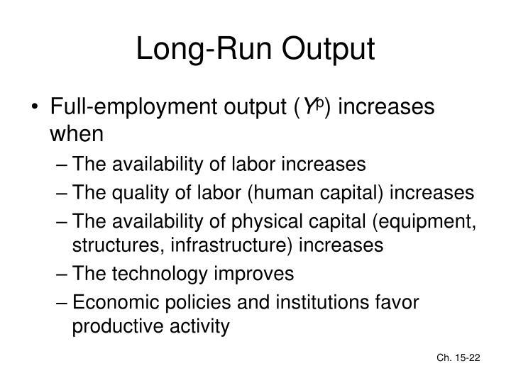 Long-Run Output