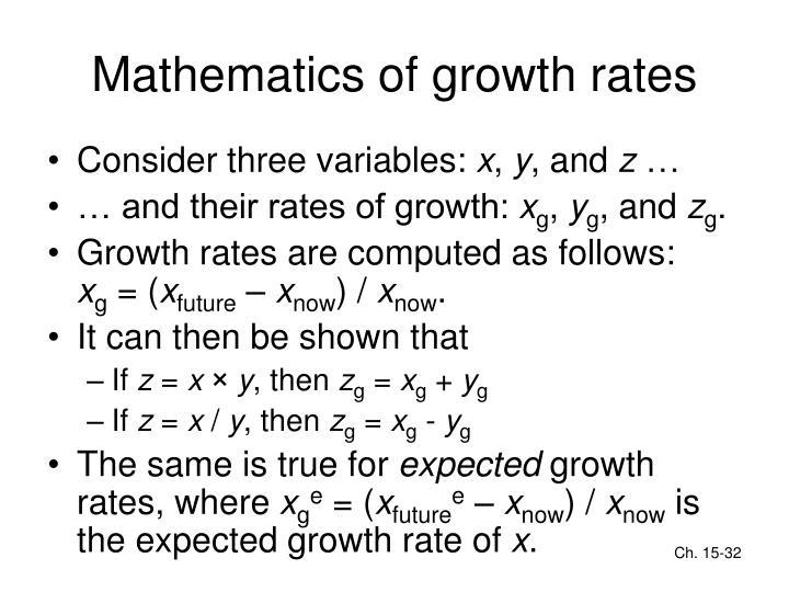 Mathematics of growth rates