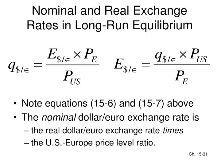 Nominal and Real Exchange Rates in Long-Run Equilibrium