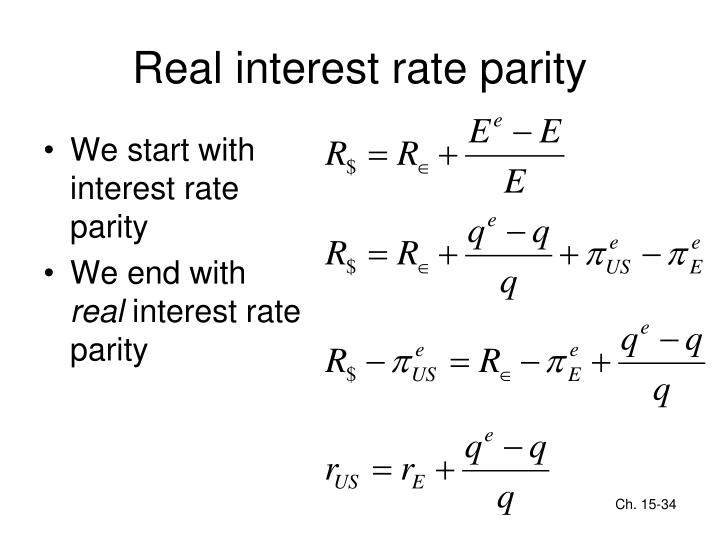 Real interest rate parity