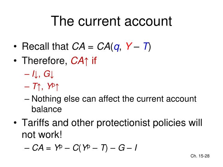 The current account