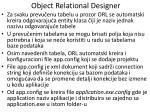 object relational designer3
