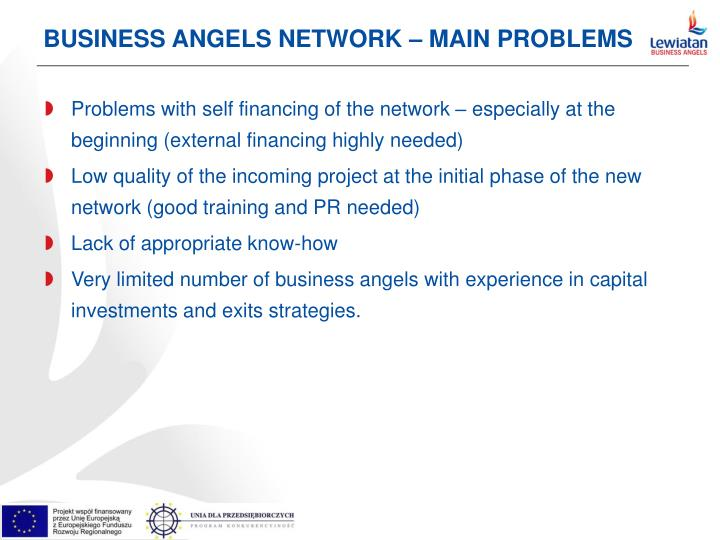 BUSINESS ANGELS NETWORK – MAIN PROBLEMS