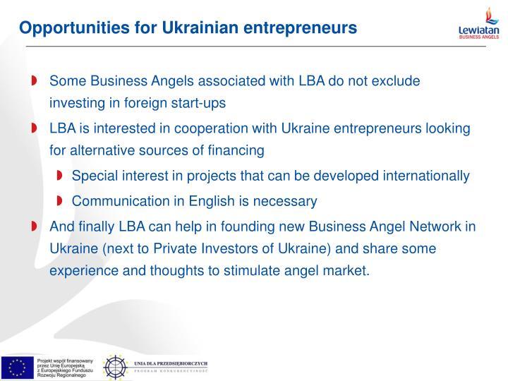 Opportunities for Ukrainian entrepreneurs