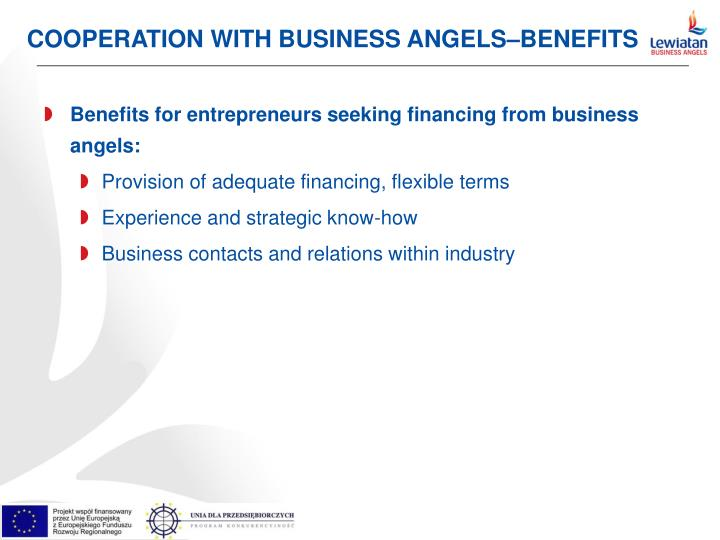 COOPERATION WITH BUSINESS ANGELS–BENEFITS