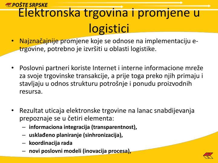 Elektronska trgovina i promjene u logistici
