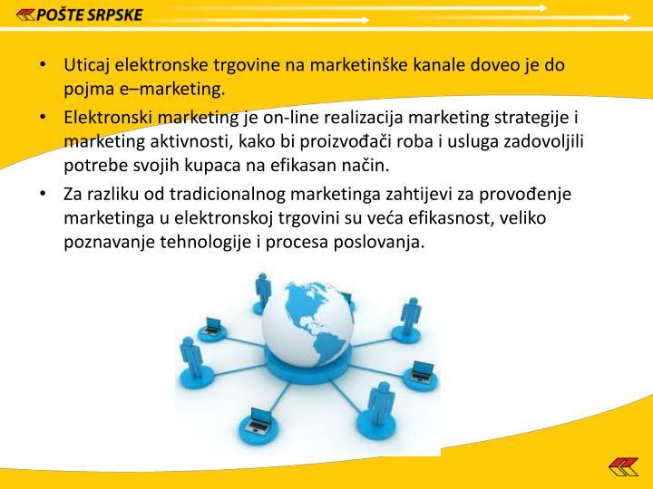 Uticaj elektronske trgovine na marketinške kanale doveo je do pojma