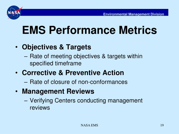 EMS Performance Metrics