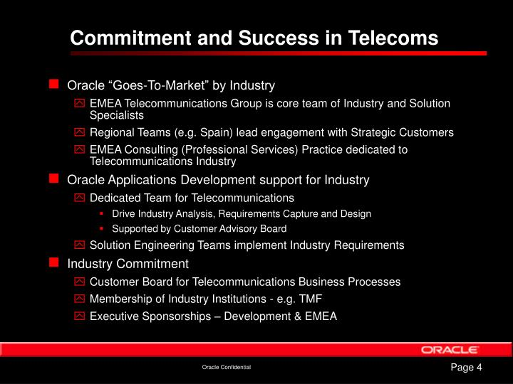 Commitment and Success in Telecoms
