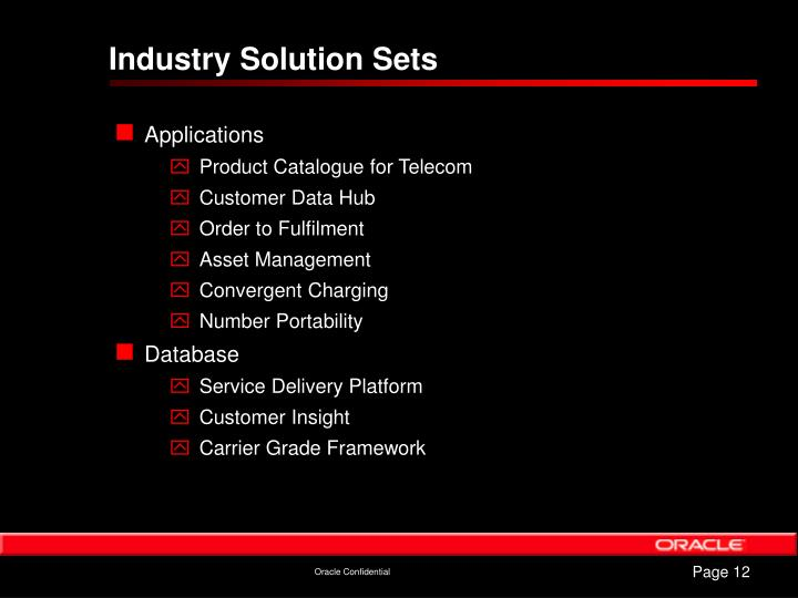 Industry Solution Sets