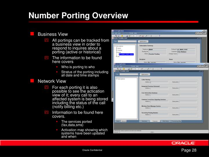 Number Porting Overview