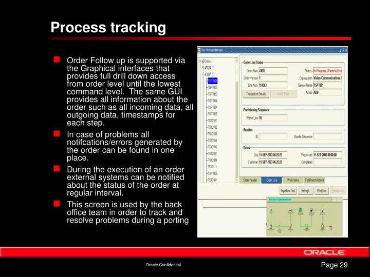 Process tracking