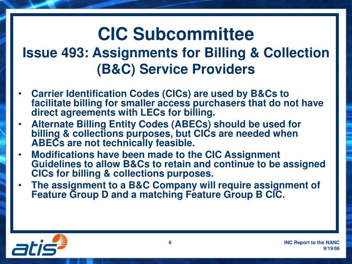 CIC Subcommittee