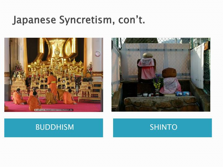 Japanese syncretism con t