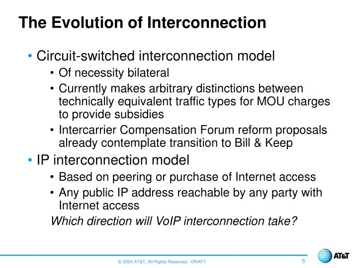 The Evolution of Interconnection