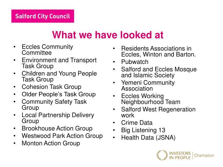 Eccles Community Committee