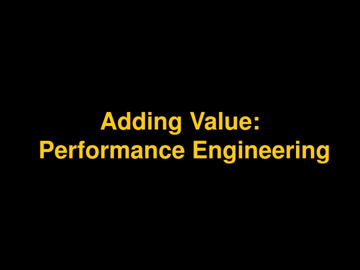 Adding Value: