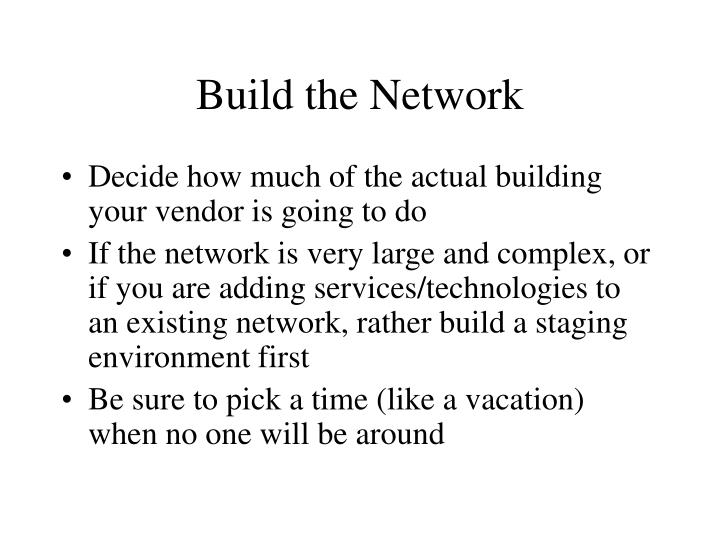 Build the Network