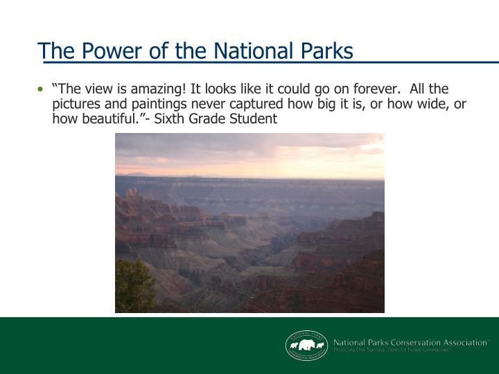 The power of the national parks