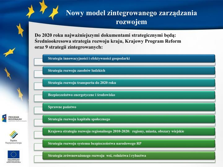 Nowy model zintegrowanego zarządzania rozwojem