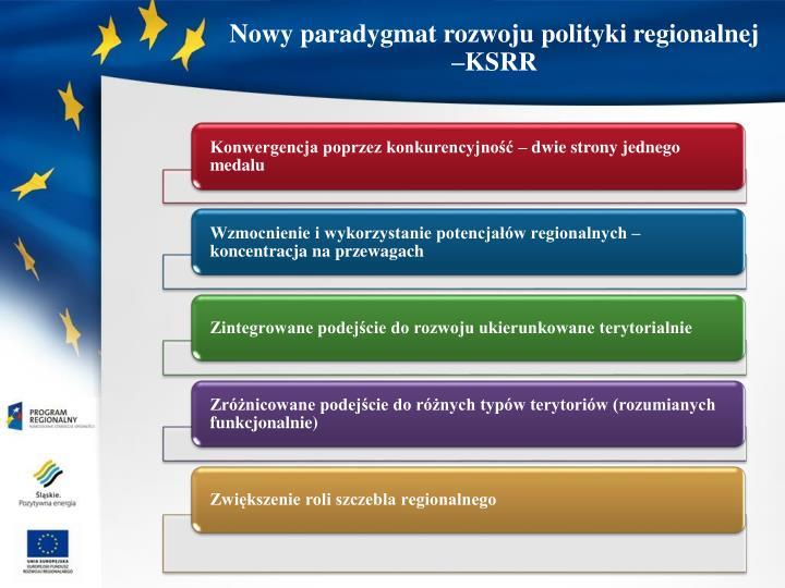 Nowy paradygmat rozwoju polityki regionalnej –KSRR