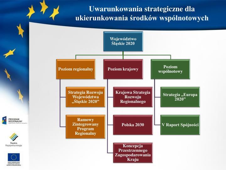 Uwarunkowania strategiczne dla ukierunkowania środków wspólnotowych