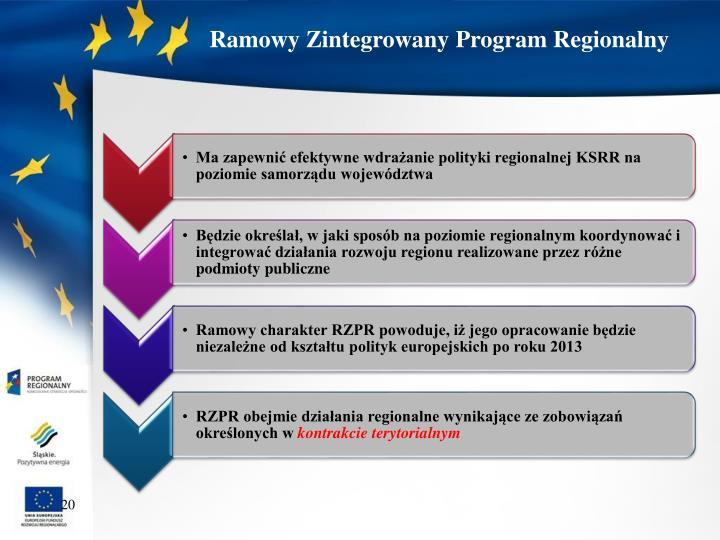 Ramowy Zintegrowany Program Regionalny