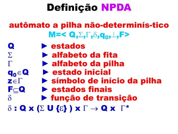 Defini o npda