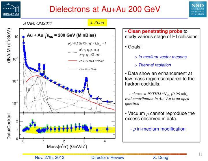 Dielectrons at Au+Au 200 GeV