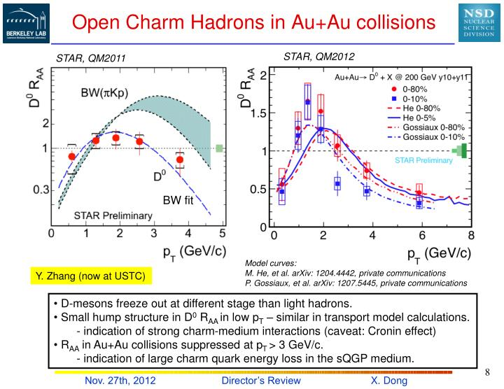 Open Charm Hadrons in Au+Au collisions