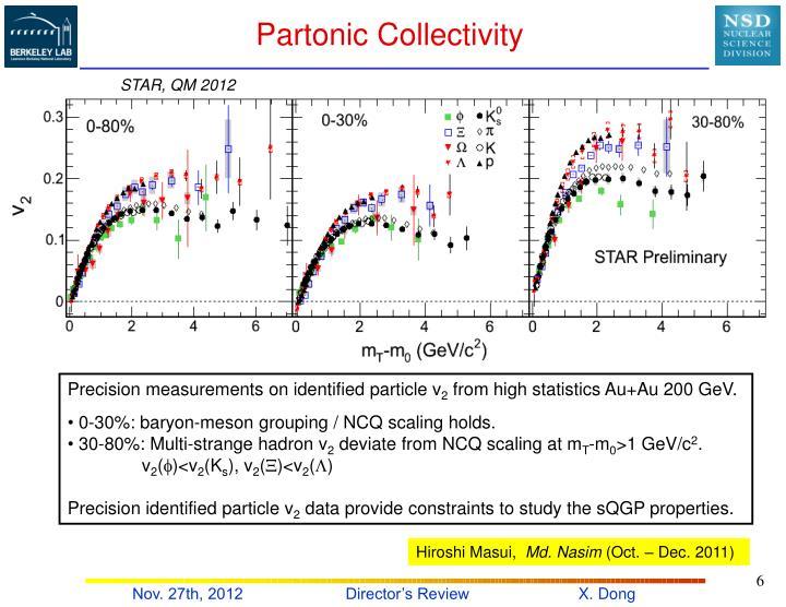 Partonic Collectivity