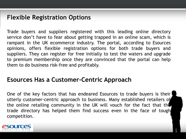 Flexible Registration Options