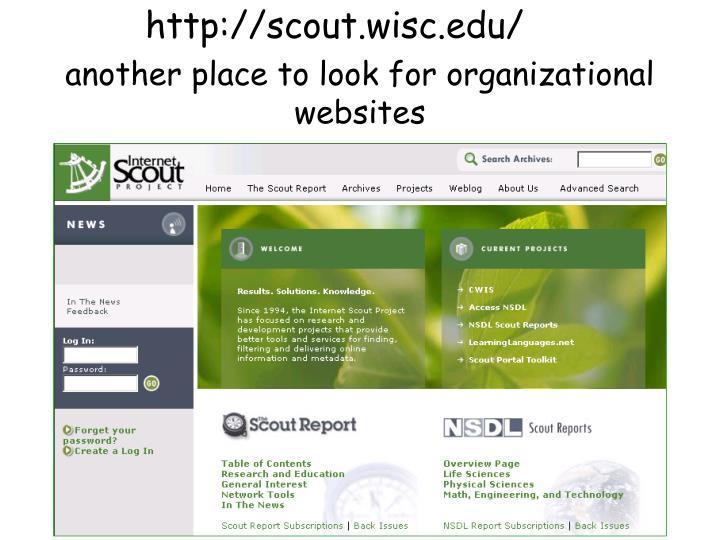 http://scout.wisc.edu/