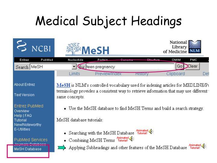 Medical Subject Headings