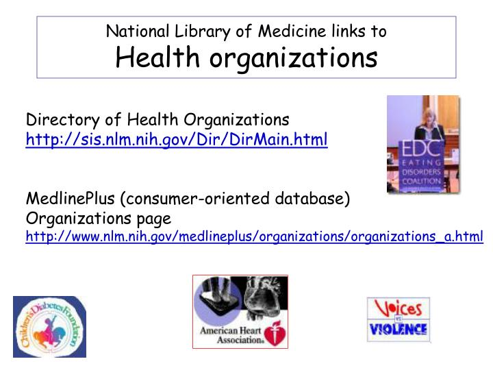National Library of Medicine links to