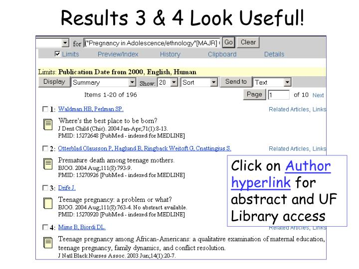 Results 3 & 4 Look Useful!