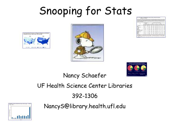 Snooping for stats