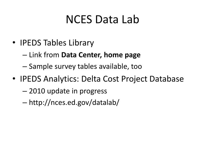 NCES Data Lab